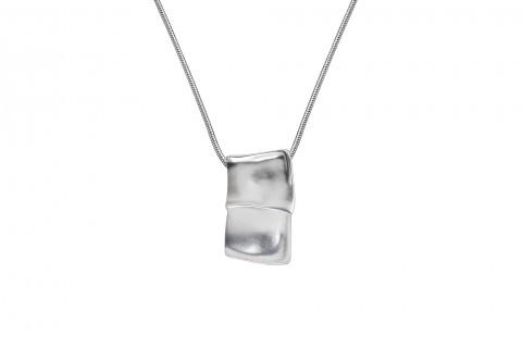 Verschmolzene Quadrate in Silber