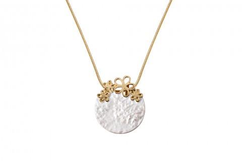 Silberner Kreis mit Goldenen Blüten