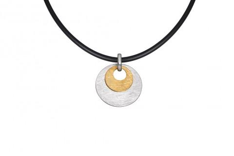 Goldener Kreis auf Silbernem Kreis
