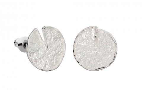 Seerosenblatt in Silber