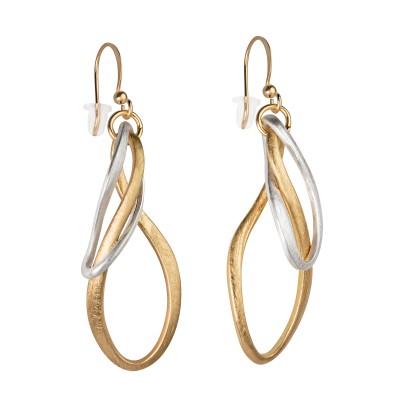 Ohrhänger mit Goldenen und Silbernen Ringen