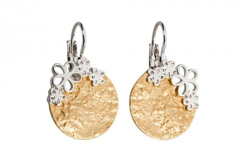 Goldener Kreis mit Silbernen Blüten
