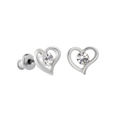 Silberne Herzen mit großem Stein