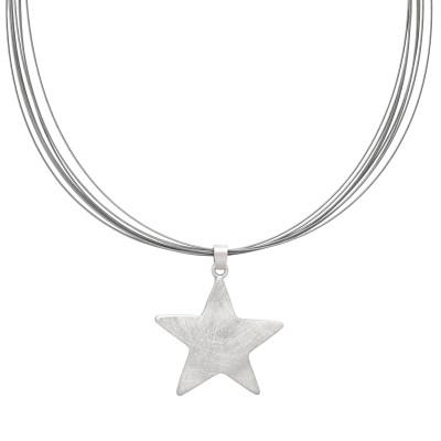 Stern auf Stahlseil
