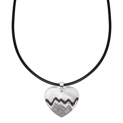 Herzwellen in Silber