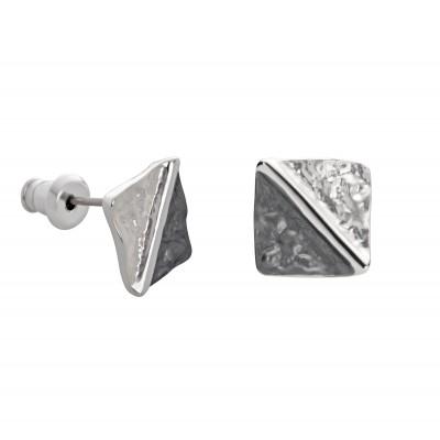 Rauten in Silber und Schwarz