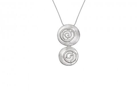Doppelkreis in Silber