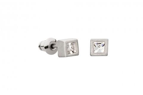 Quadrat in Silber mit Stein