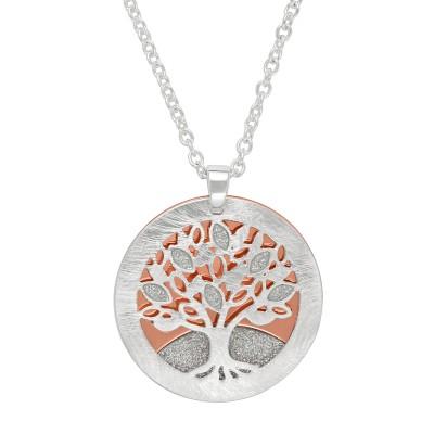 Lebensbaum silber/rosé