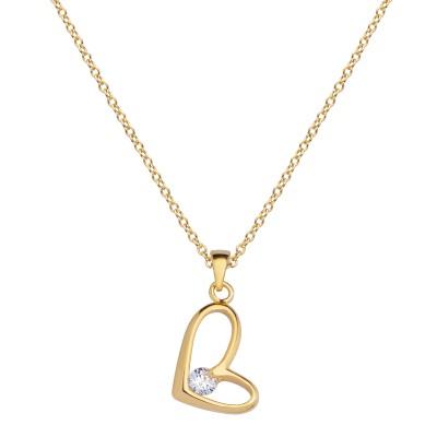 Goldenes Herz mit Stein