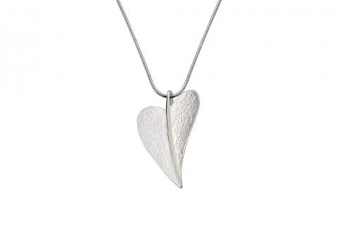 Herzblatt Silber