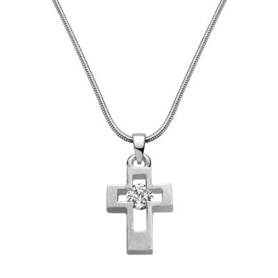 Silbernes Kreuz mit Stein