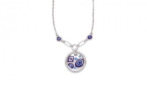 Silberner Kreis mit Blauer Struktur