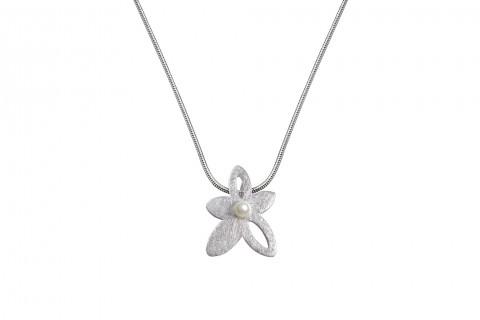 Perle mit Blume