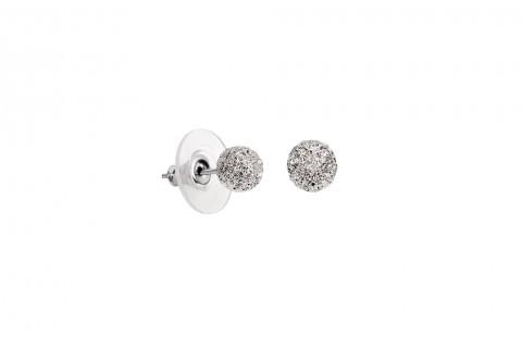 Gehämmerte Perlenform in Silber