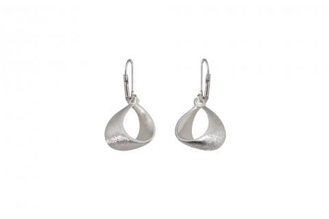 Ohrhänger mit Ring in Silber