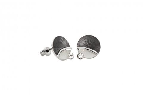 Silber und Anthrazit mit Stein