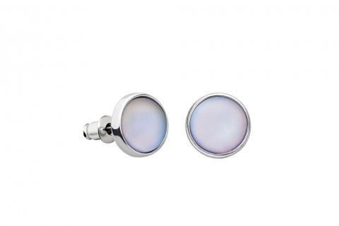 Weiße Ohrstecker in Perlenform groß