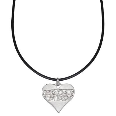 Verspieltes Herz in Silber