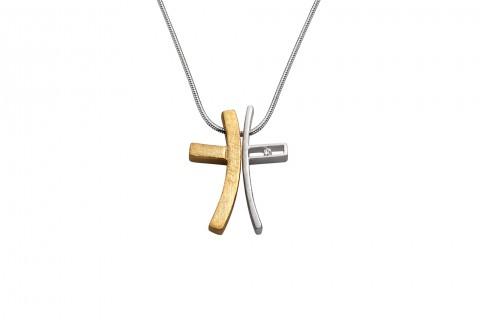Geteiltes Kreuz in Gold und Silber