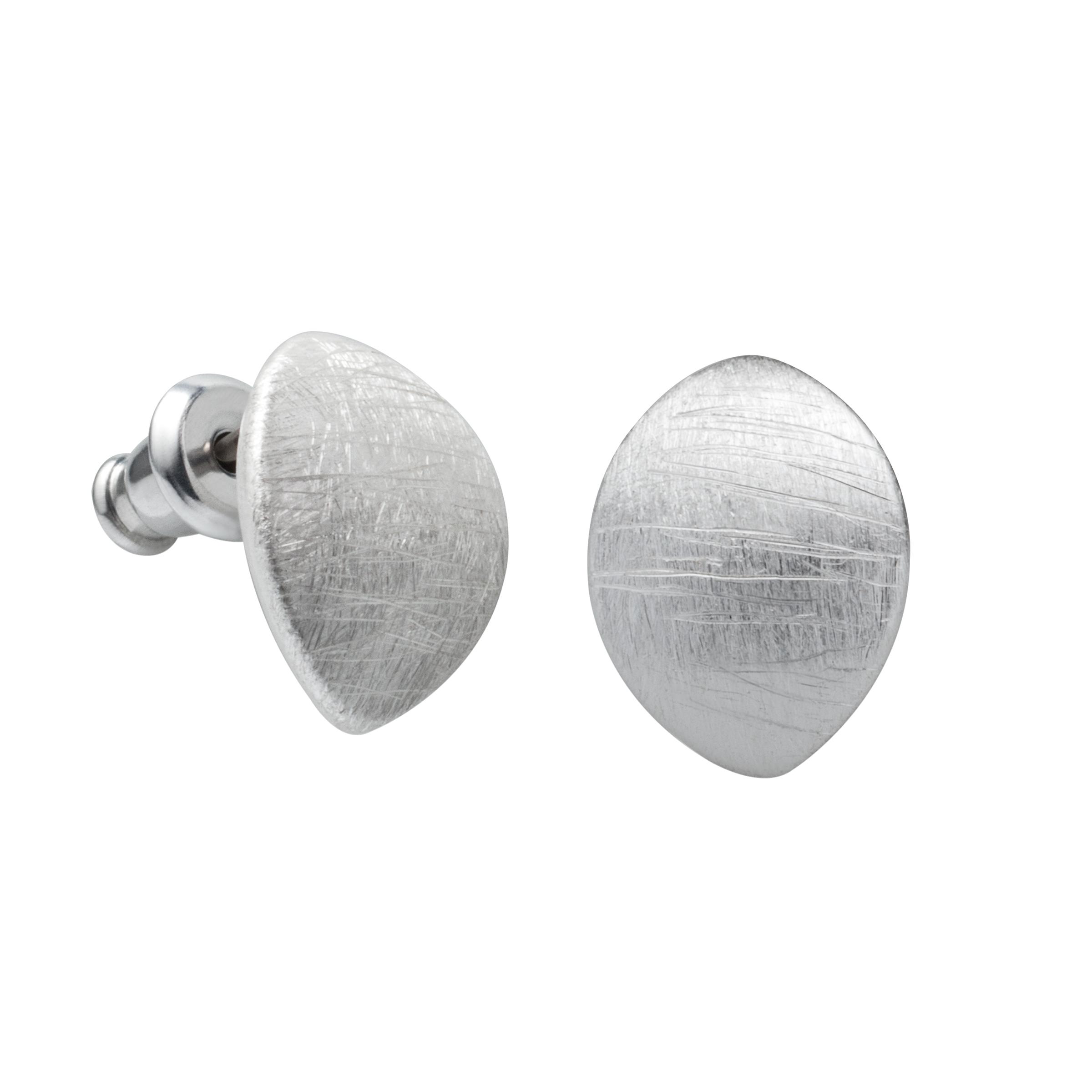 Einfache Echt 925 Silber Gebürstete Hexe Stimmung Ohrstecker für Mädchen Schmuck