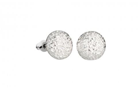 Gehämmerte Perle in Silber