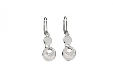 Silberner Ammonit mit Silbernem Kreis