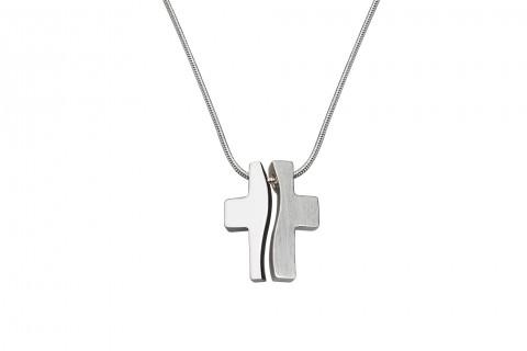 Geteiltes Kreuz in Silber