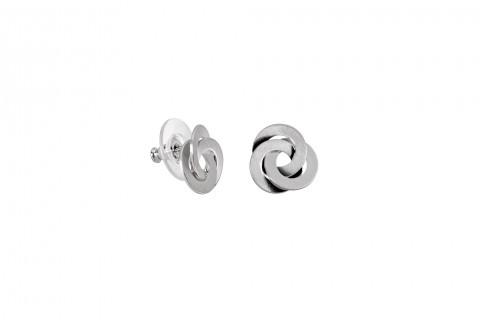 Verknotete Kreise in Silber