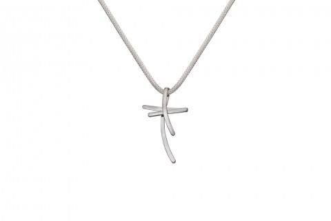 Doppeltes Kreuz in Silber